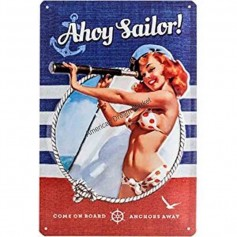 Plaque ahoy sailor 3D MM