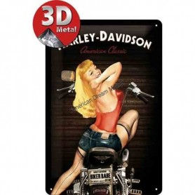 Plaque harley american classic 3D MM