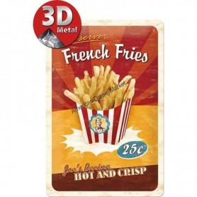Plaque french fries 3D MM