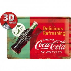 Plaque delicious coca cola 3D MM