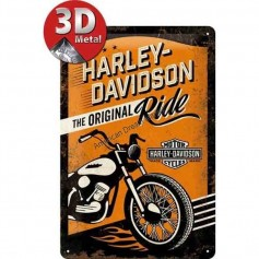 Plaque origiunal ride harley 3D MM