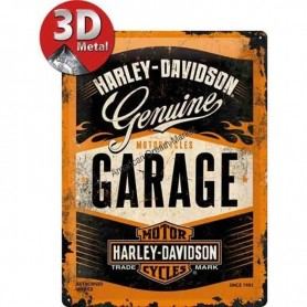 Plaque genuine garage harley 3D MM