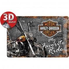 Plaque favortie ride harley 3D MM