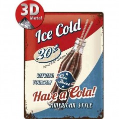 Plaque ice cold cola 3D MM