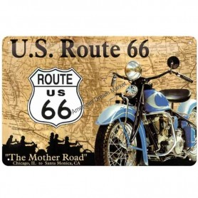Plaque route 66 mother road 3D MM