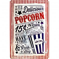 Plaque delicious popcorn 3D MM