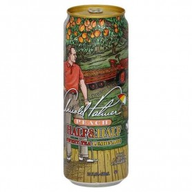 Arizona half and half peach lemonade can