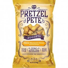 Pretzel pete nuggets honey mustard and onion