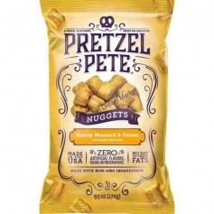 Pretzel pete nuggets honey mustard and onion