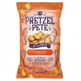 Pretzel pete nuggets cheddar and ale