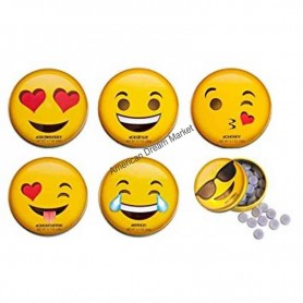 Emoji tin box candy
