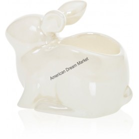 Photophore lumignon pearlescent crackle bunny