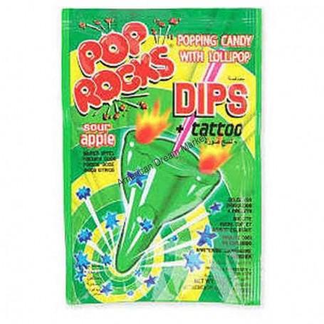 Pop Rocks dips sour apple