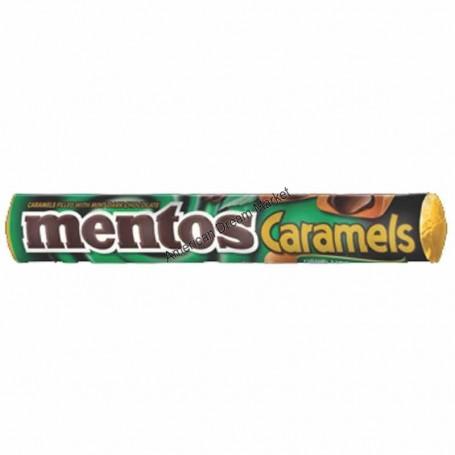 Mentos caramel chocolat noir menthe
