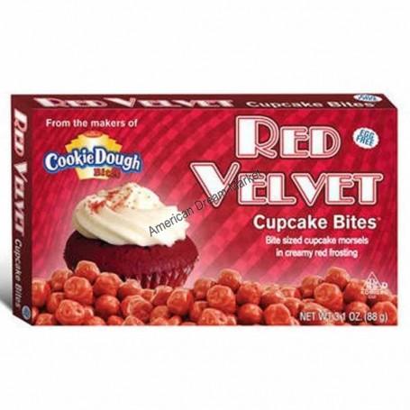 Cookie dough bites red velvet cupcake