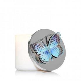 Décoration bougie BBW papillon bleu