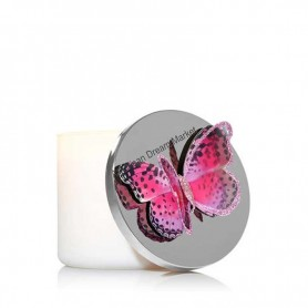 Décoration bougie BBW papillon rose