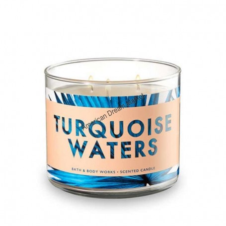 BBW bougie turquoise waters