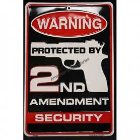 Warning protected by 2nd amendment