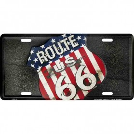 License plate route us 66 flag