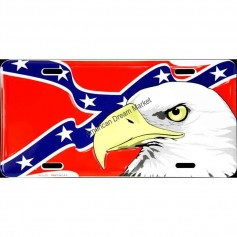 License plate eagle confederate