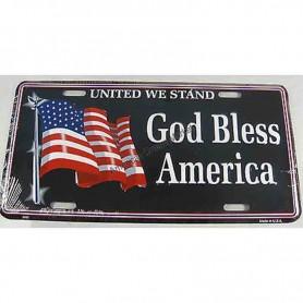 License plate god bless america