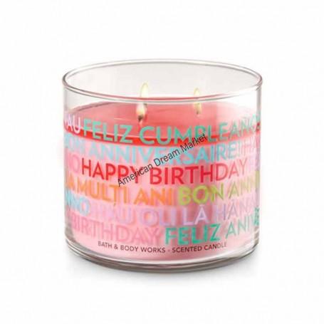 BBW bougie happy birthday multi langue