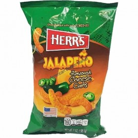 Herr's jalapeno cheese curls GM