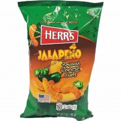 Herr's jalapeno cheese curls GM