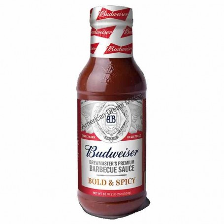 Budwaiser BBQ sauce bold and spicy