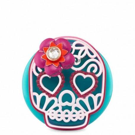 Scentportable sugar skull visor clip