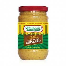 Nathan's spicy brown mustard (pot)