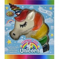 Giant rainbow rock unicorn