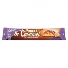 Milka and peanut caramel