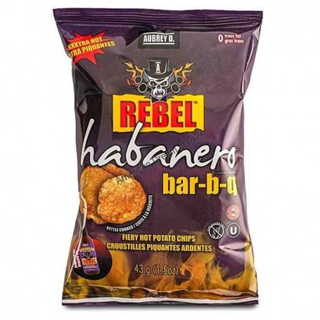 Aubrey D rebel habanero BBQ chips