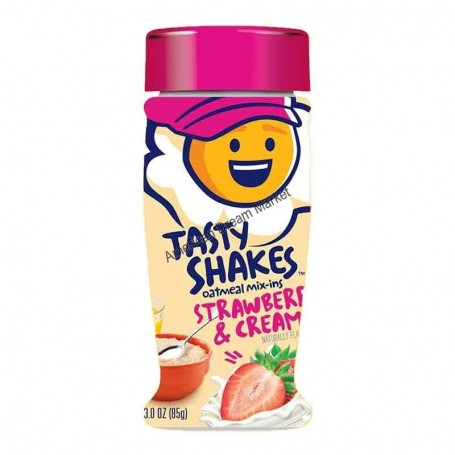 Tasty shakes oatmeal mix-ins strawberries and cream