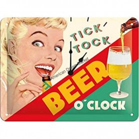 Plaque tic toc beer o'clock