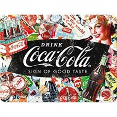 Plaque drink coca cola sign of good taste