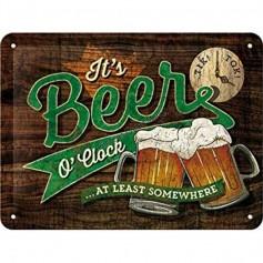 Plaque it's beer o'clock