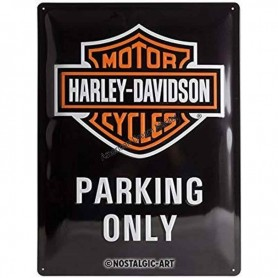 Plaque harley davidson parking only