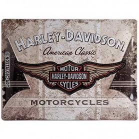 Plaque harley davidson motorcycle