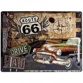 Plaque route 66 drive