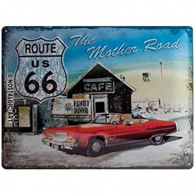 Plaque route 66 the mother road