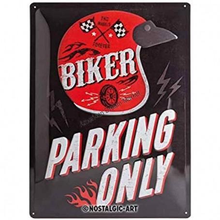 Plaque biker forever parking only