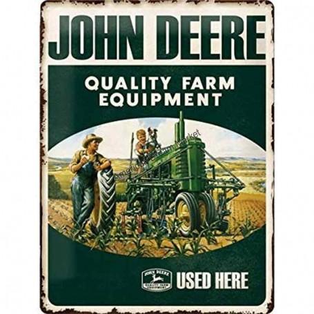 Plaque john deere quality farm