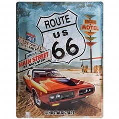 Plaque route 66 main street