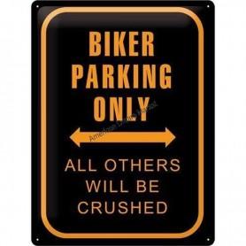 Plaque biker parking only