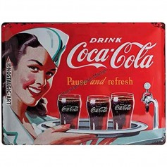 Plaque drink coca cola