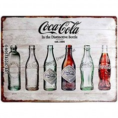 Plaque coca cola bottle