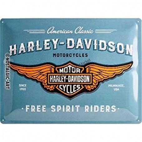 Plaque harley davidson free spirit riders